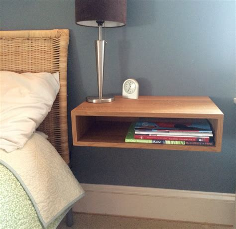 Floating Nightstand / Bedside Table in White Oak by KrovelMade