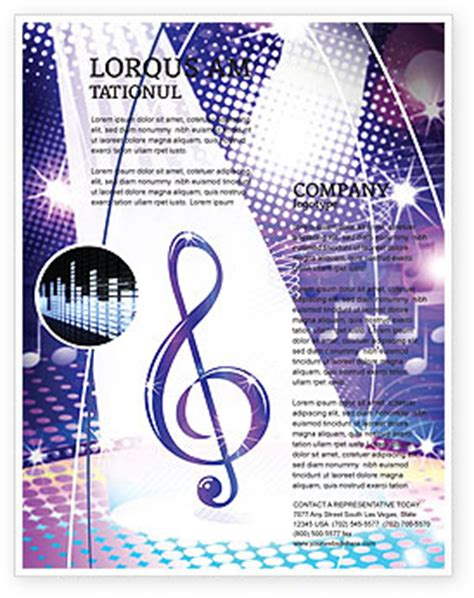 music tune flyer template background in microsoft word