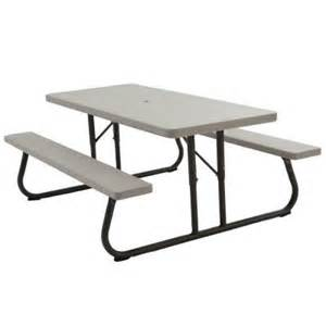 picnic tables home depot lifetime 6 ft folding picnic table in putty 2119 the