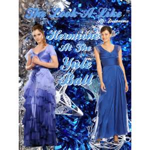 Blue counterpart as shown in the book of hermione s yule ball dress
