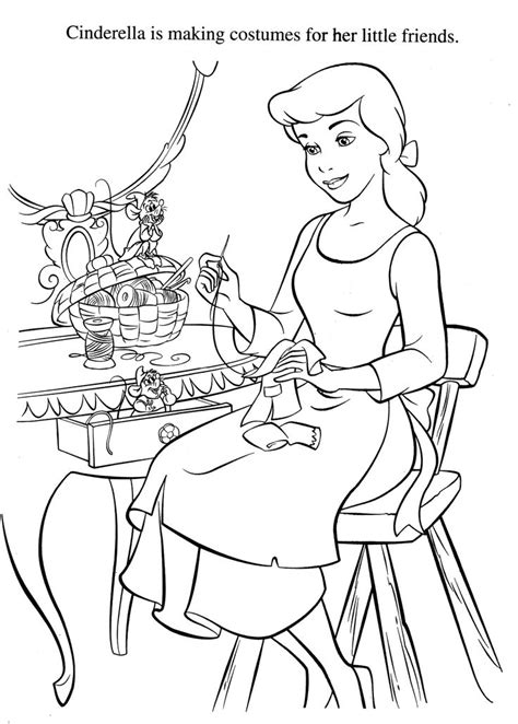 cinderella coloring pages disney coloring pages