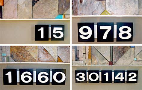 designer house numbers designer house numbers image mag