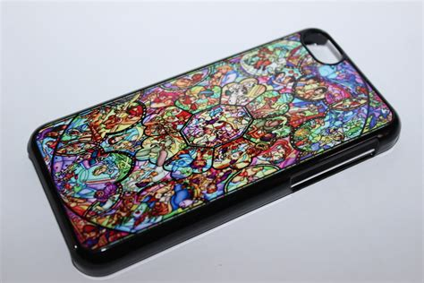 custom printed disney stained glass window apple iphone 4 4s 5 5s 5c 6 6 plus cover
