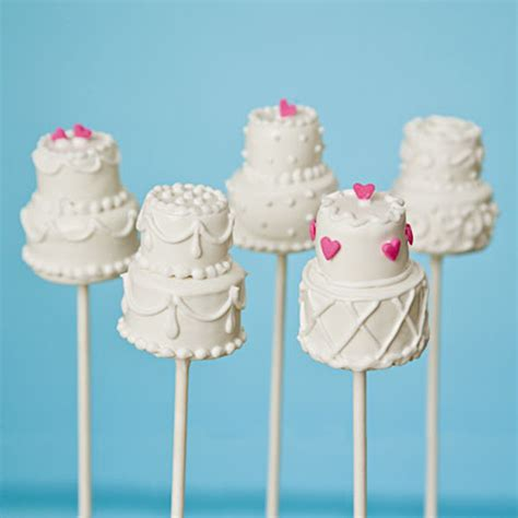Wedding Cake Pops by White Cake Pops Bitsy