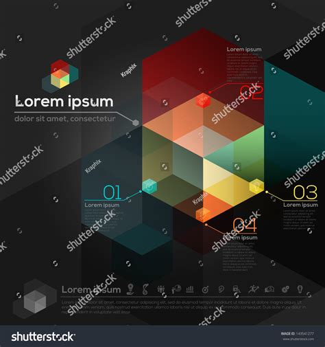 Isometric Hexagon Shapes Abstract Design Background Stock Vector 143541277 Shutterstock Hexagon Website Template