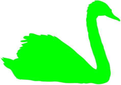 lime silhouette mute swan silhouette free vector silhouettes