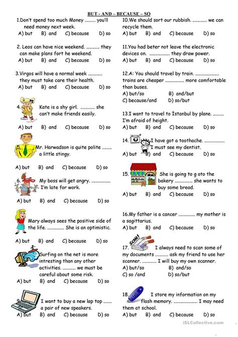 and so but because worksheets and but because so worksheet free esl printable worksheets made by teachers