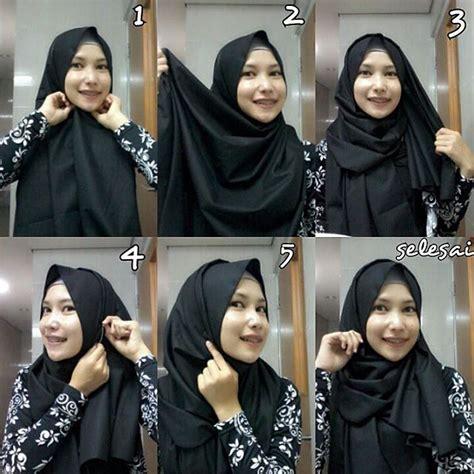 tutorial jilbab pasmina bahan kaku cara hijab modern pashmina hairstylegalleries com