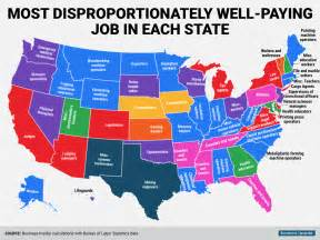 map state high paying state map business insider