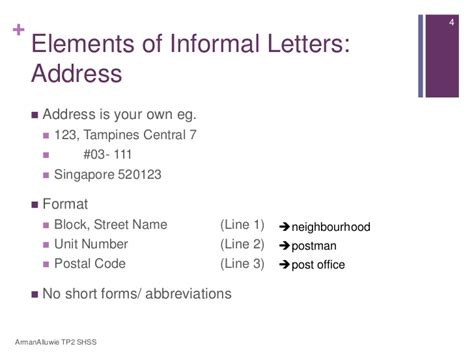 letter address format singapore secondary 1 express lesson 4