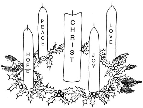 Advent Wreath Coloring Page Catholic | catholic advent wreath coloring page