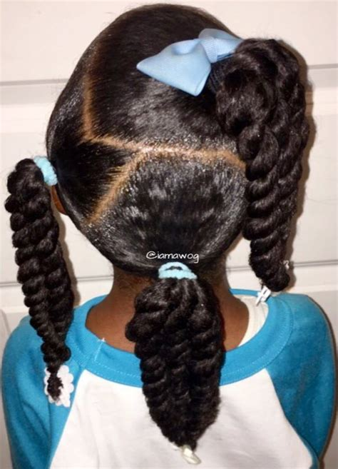 Twisted Ponytail Hairstyles For Little Black Girls   www