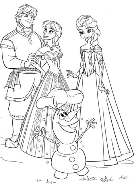 Free Coloring Pages Of Frozen Elsa Drawing Frozen Coloring Pages For