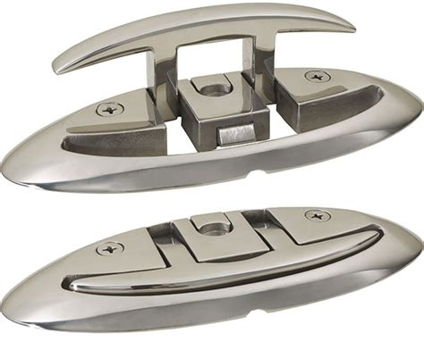 retractable boat dock cleats pop up folding cleats 316 stainless steel