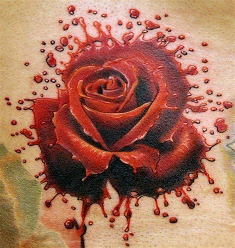 roses blood tattoo top pinterest