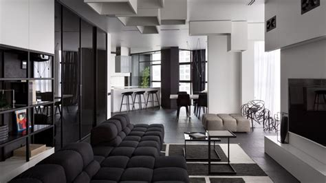 ukrainian apartment interiors musician spacious and beautiful modern black and white apartment in
