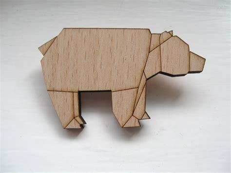 Origami Bears - origami brooch studio marolie