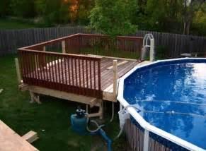 above ground pools decks designs studio design