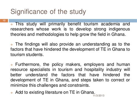 How To Make Significance Of The Study In Research Paper - challenge of tourism education