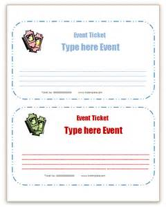 microsoft office templates event ticket templates