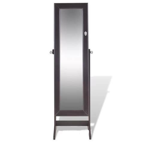 free standing jewellery cabinet brown free standing jewelry cabinet with mirror www
