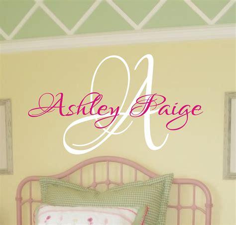 Baby Girl Nursery Wall Decal Monogram Name By Justthefrosting Monogram Wall Decals For Nursery