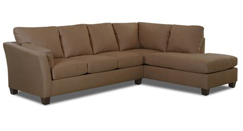 Microsuede Sectional Klaussner Drew Sectional Sofa Microsuede Straw Kl