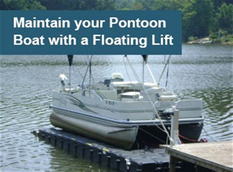 cost of pontoon boat lift maintaining pontoon boats with a floating lift jetdock