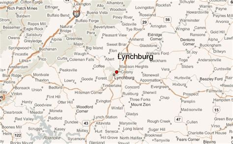 map of lynchburg virginia lynchburg virginia location guide