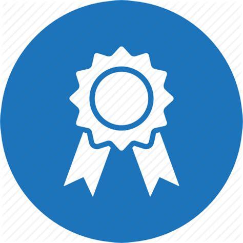 Reward Blue award badge circle medal reward trophy winner icon icon search engine