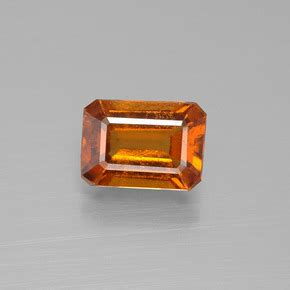 Spessartite Garnet 8 76ct hessonite garnet 1 8ct octagon emerald cut from