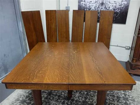 extension dining table victorian solid tiger oak