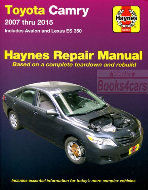 old cars and repair manuals free 2007 lexus ls electronic valve timing shop manual service repair haynes toyota lexus book es350 camry avalon chilton ebay