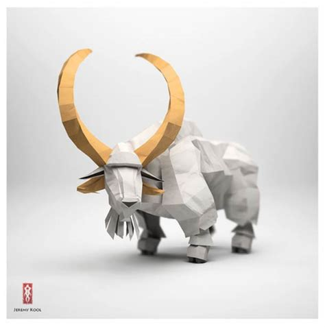 Paper Animals Origami - digital meets analog inspiring dreamy digital origami