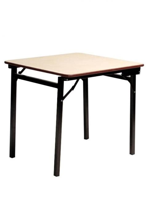 Heavy Duty Folding Table Square Heavy Duty Melamine Folding Table 2ft 6in 76cm