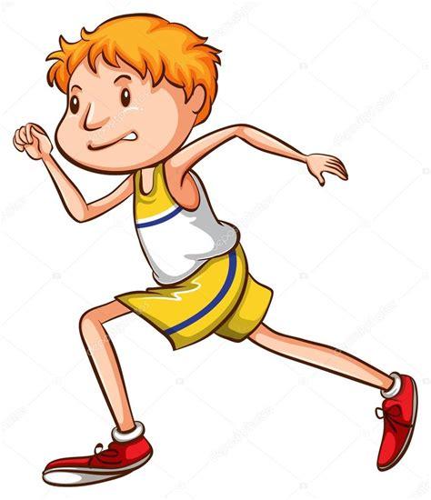 imagenes niños corriendo un simple dibujo de un ni 241 o corriendo vector de stock