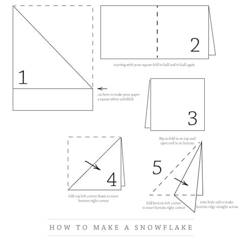 How To Fold A Paper For A Snowflake - paper snowflake happy holidays