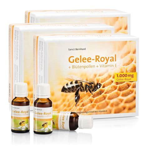 Gelee-Royal + Blütenpollen + Vitamin-E-Trinkfläschchen 3er ... Royal Jelly Wirkung
