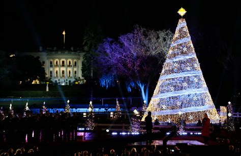 visiting national christmas tree at night white house tour