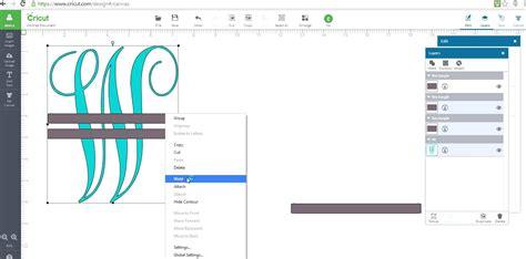 design center cricut how to make a monagram split letter in cricut design space