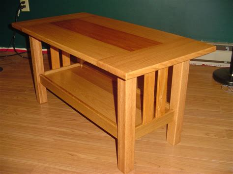 craftsman style coffee table oak and mahogany craftsman style coffee table by