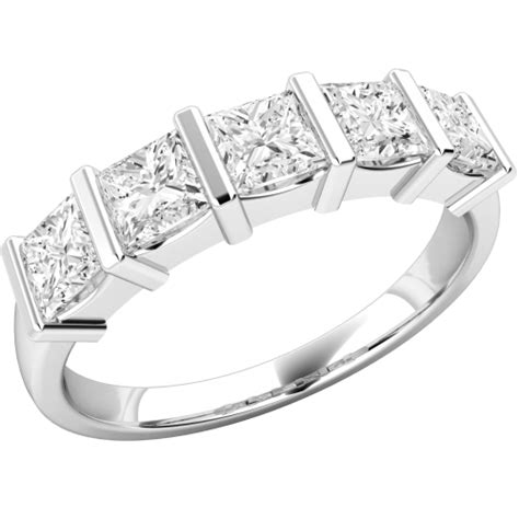 princess cut eternity ring in 18ct white gold