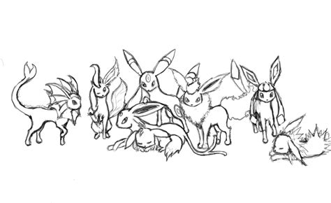 pokemon coloring pages of eevee evolutions pokemon eevee coloring pages images pokemon images