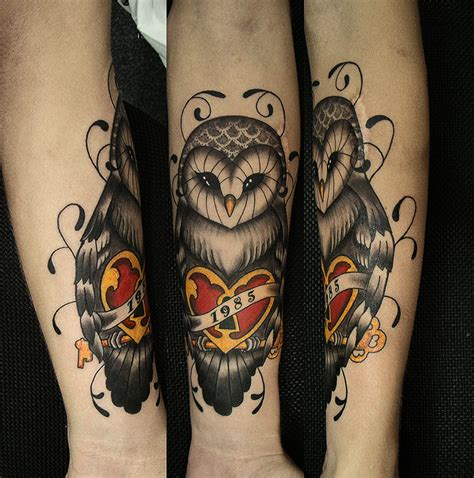 tattoo owl heart 40 creative owl tattoos for tattoo lovers