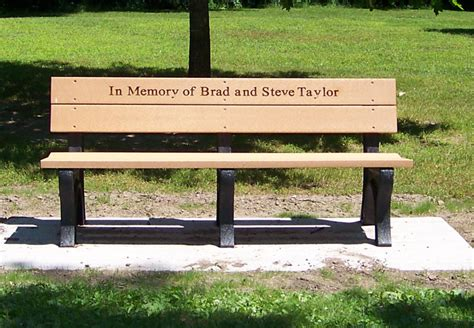 personalized memorial bench memorial benches accessories routed engraved letters for