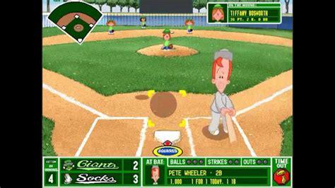 backyard baseball teams backyard baseball league pc tournament game 1 part 2 opponents gogo papa