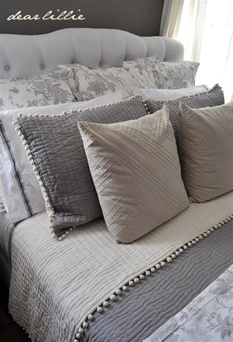 bed with euro pillows dear lillie our gray guest bedroom and a full source list