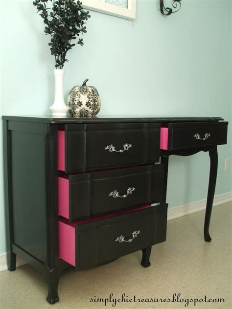 paint inside sides of drawers a color that will pop