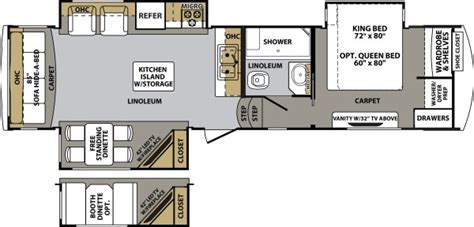 cardinal fifth wheel floor plans cardinal 5th wheel floor plans pick your favorite rv floor
