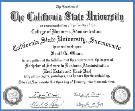 Cal State Universities With Mba Degrees by College College Fonts